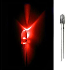 LED 3mm ROT 20/50/100/500 LEUCHTDIODEN SUPERHELL RUNDKOPF AUSWAHL