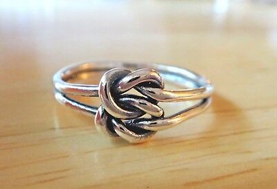 925 Sterling Silver ~  ~ Infinity ~ Band~  Ring ~ 8 mm ~ Size 6