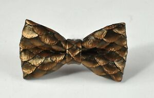 Copper-Brown-Dragon-Squama-Fish-Scales-Faux-Leather-Bow-tie-for-Men-Youth-Boy