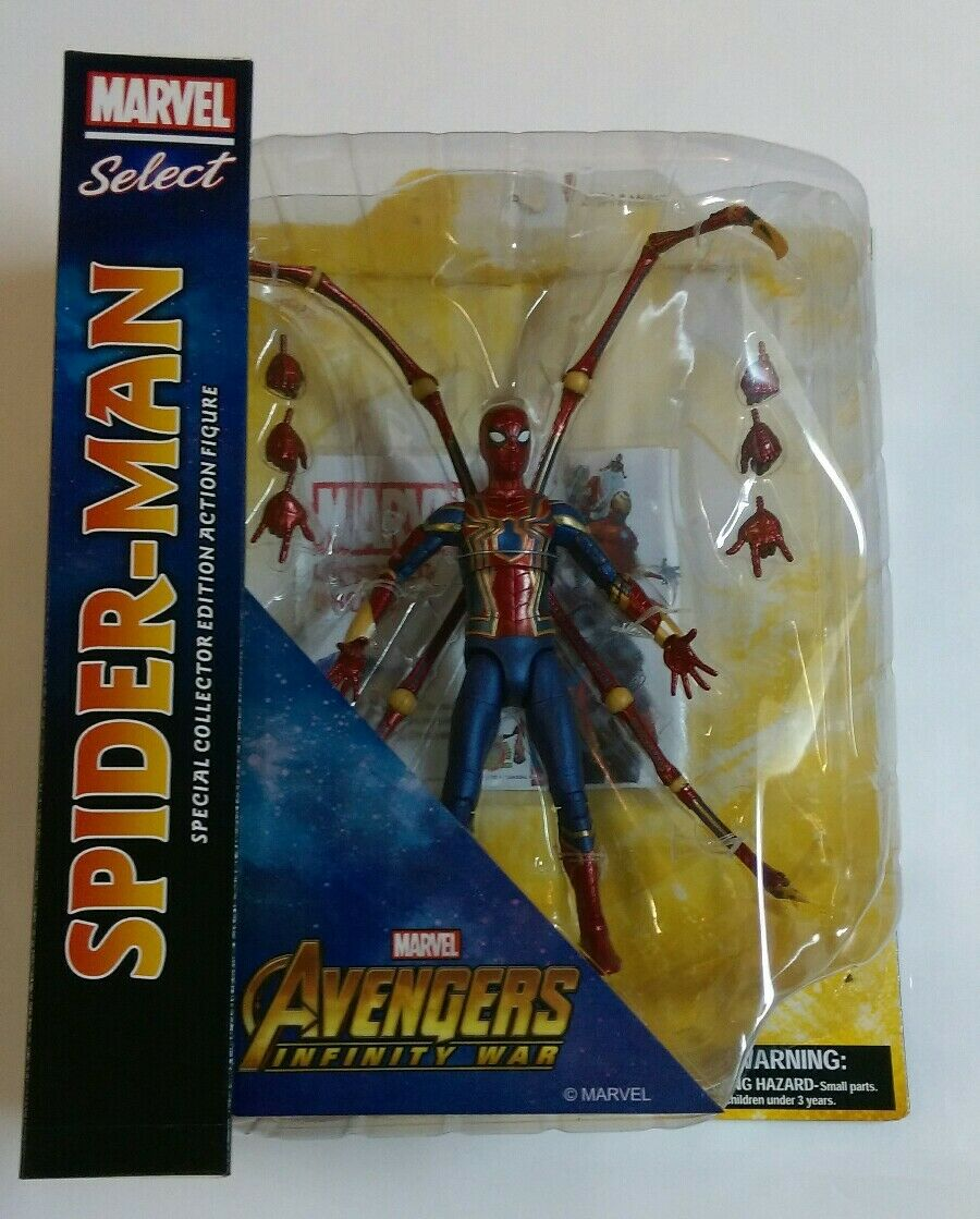 Marvel Select Avengers Infinity War Iron Spider-Man 7-Inch Action Figure SEALED