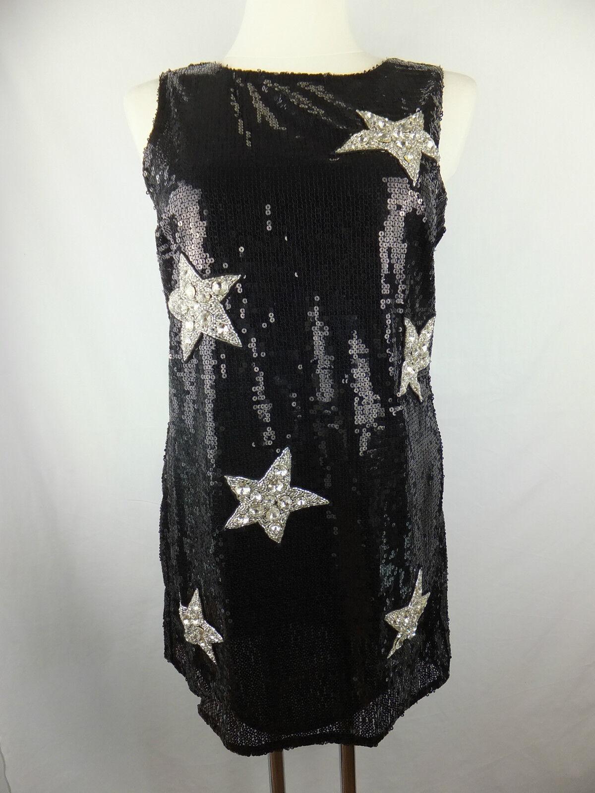 Amor & Psyche Kleid - S - schwarz silber - neu  mit Etikett - Pailletten