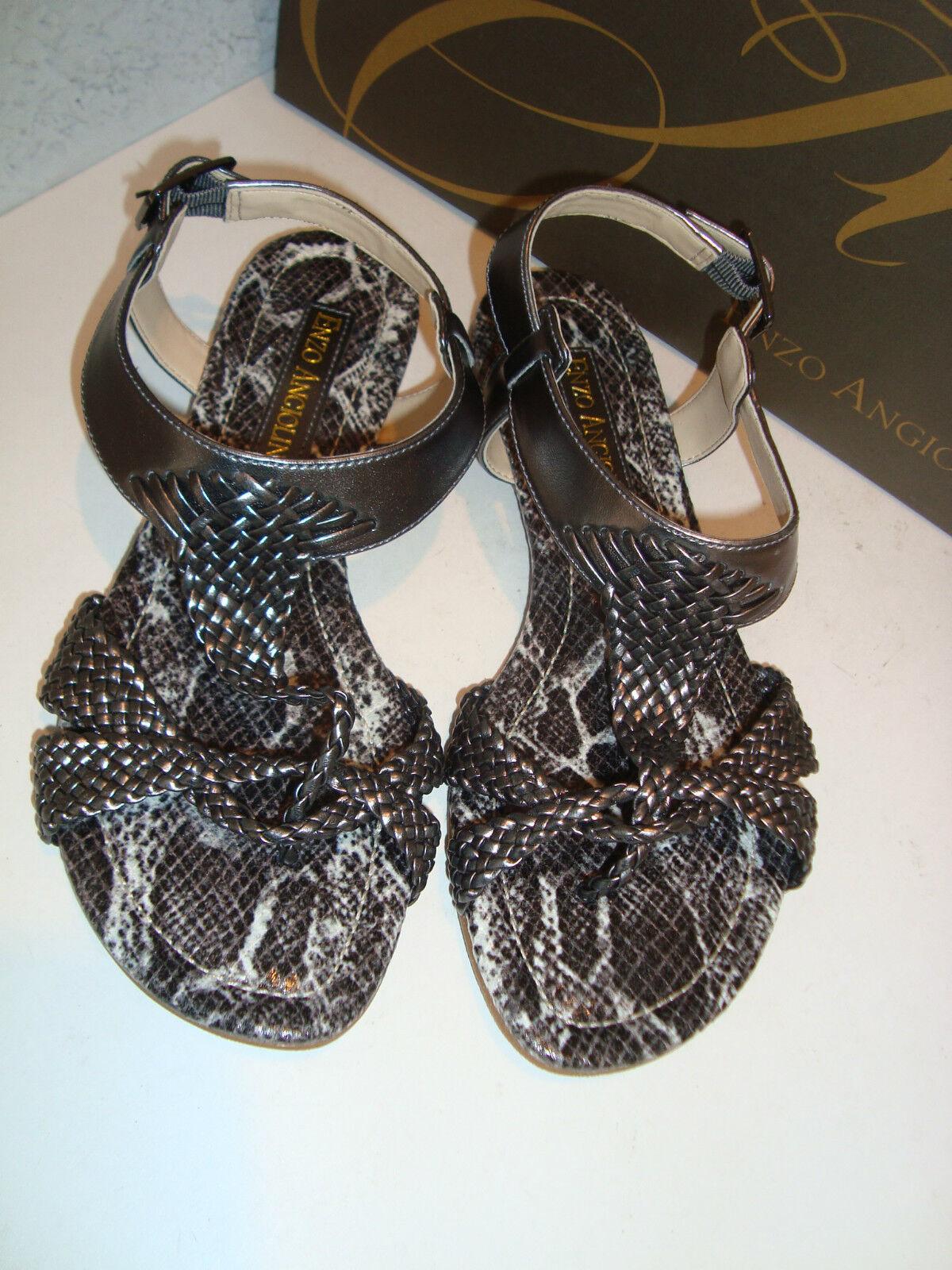 Enzo Angiolini Damenschuhe NEU Triton Pewter Sandales Schuhes 6 Medium