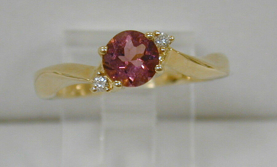 .60 CT ROUND TOURMALINE & DIAMOND RINGCLASSIC CURVED SHANKSIZE 7FINE QUALITY