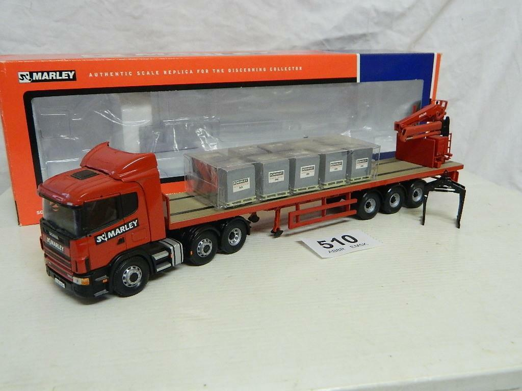 Corgi 1 50 Scania Crane Trailer Artic & Load  Marley Building Ltd  Box CC12217