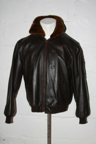 Excelled B-15 Brown Leather Bomber Flight Jacket F