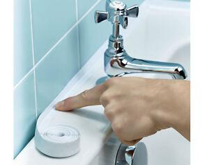Bath sealant tape sink shower waterproof leaks self adhesive mildew resistant ebay for Best sealant for bathroom sink