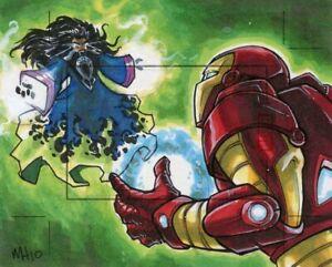 Marvel-Heroes-amp-Villains-Sketch-Card-MEGAN-HETRICK-INCENTIVE-IRON-MAN-amp-MANDARIN