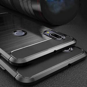 official photos cf6c9 7ca1e Details about For Asus Zenfone Max Pro M2 ZB631KL / ZB633KL Soft Armor  Carbon Back Cover Case