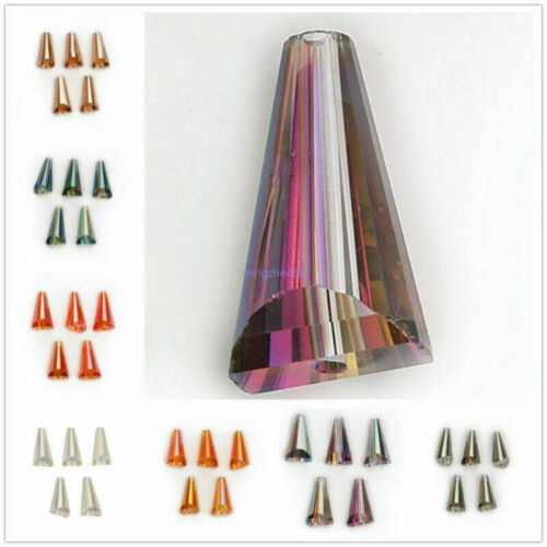 New 10pcs Teardrop Charms Glass Crystal Loose Beads 10x20mm Craft Bead Findings#