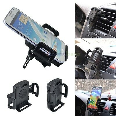 BLACK CAR AIR VENT MOUNT STAND HOLD HOLDER FOR MOBILE CELL PHONE SMARTPHONES