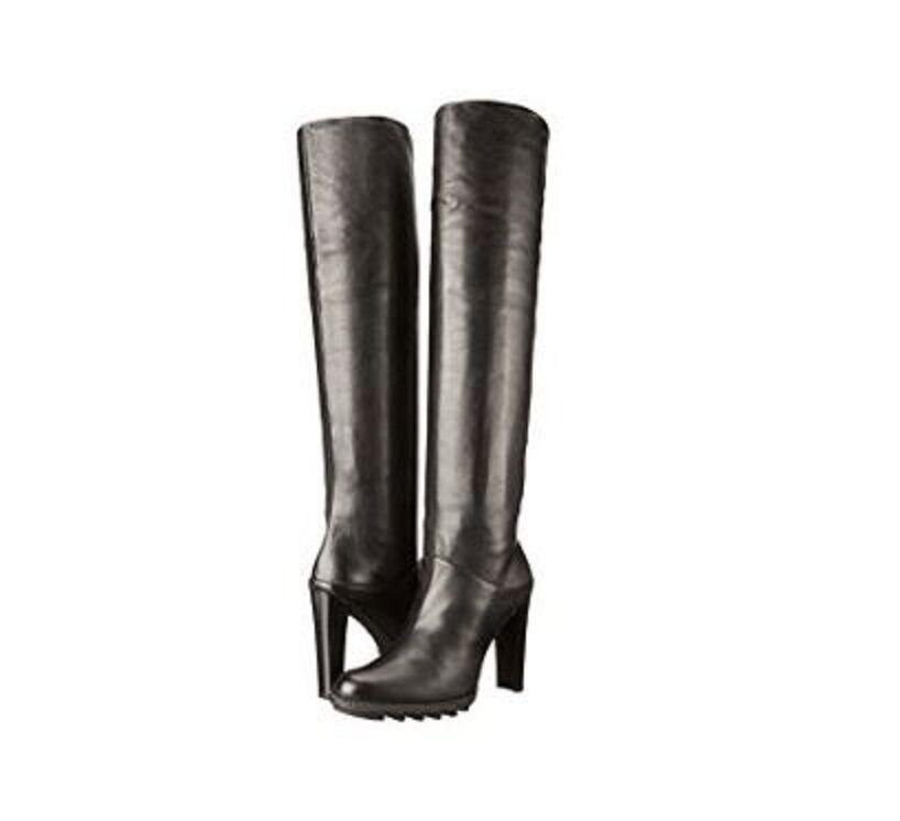 795 Nueva Stuart Weitzman US 10.5 Broche Sobre la Rodilla botas De Cuero Negro Caja  opciones a bajo precio