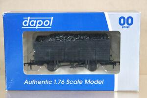 DAPOL-A007-UNPAINTED-BLACK-20-TON-9-PLANK-WAGON-MINT-BOXED-ny
