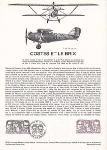 Document-philatelique-32-81-1er-jour-1981-Aviation-Costes-et-le-Brix