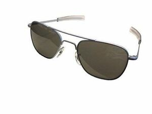 American Optical Original Pilot Bayonet 57 Matte Chrome TC Grey Sunglasses  30138 6e69c477214