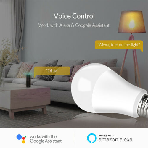 15W B22 E27 LED Light Bulb Lamp WiFi APP Remote Smart Home for Alexa Google Home