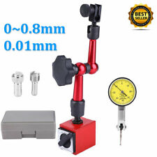 Dial Test Indicator Gauge Scale 001mm Magnetic Flexible Base Holder Stand