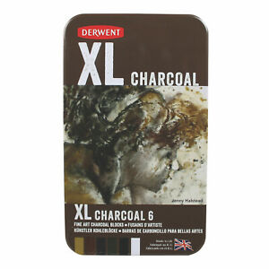 Derwent-XL-Charcoal-Sketching-Kit-NEW-6xExtra-Large-Artist-Quality-Drawing-block
