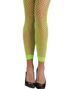 dea4f58937e4b Awesome 80s Neon Fishnet Leggings One Size 809801719902 | eBay