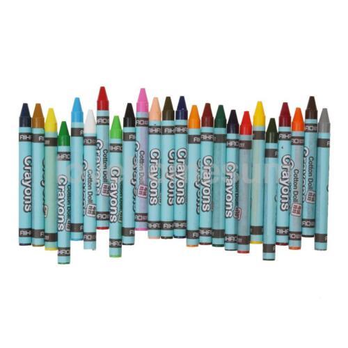 24 Farben Wachsmaler Wachsmalstifte Wachsmalkreiden Kind Malerei Crayon Set