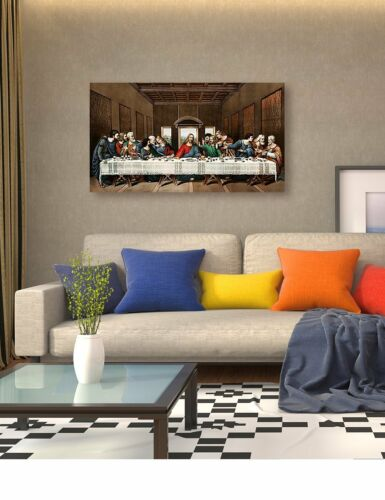 """The Last Supper Canvas Painting art Classic Giclee Canvas Prints 32x18/""""DecorArts"""