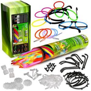 KNIXS-100-Mega-Knicklichter-Party-Pack-mit-5-Brillen-4-Ohrringe-5-Haarreifen-uvm