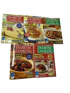 DIABETIC COOKING 2009/2010 LOT OF 5  DIABETIC MAGAZINE WITH RECIPES