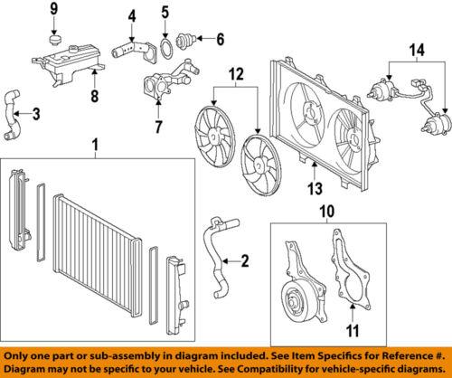 Scion TOYOTA OEM 11-15 tC-Radiator Cooling Fan Blade Shroud 1671136090