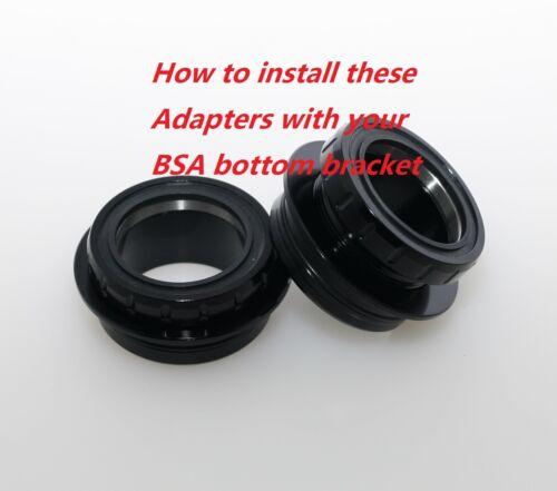 J/&L BB30-/>BSA Bottom Bracket Conversion Adapter//Convertor
