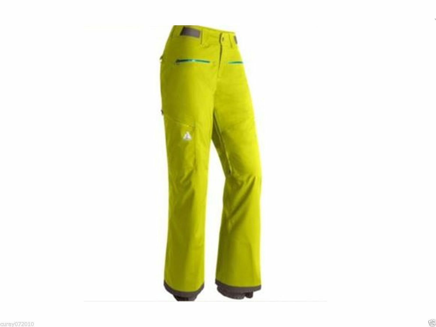 NWT Eddie Bauer Womens S First Ascent Heyburn 2.0 Ski Pants Snow Board Limeade