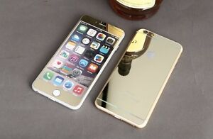 Image Is Loading GOLD COLOR Tempered Glass For Apple Iphone 6