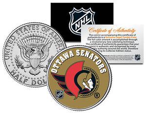 OTTAWA-SENATORS-NHL-Hockey-JFK-Kennedy-Half-Dollar-U-S-Coin-LICENSED