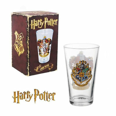 HARRY POTTER Gryffindor Crest Log Large GLASS TUMBLER NEW Boxed & Official