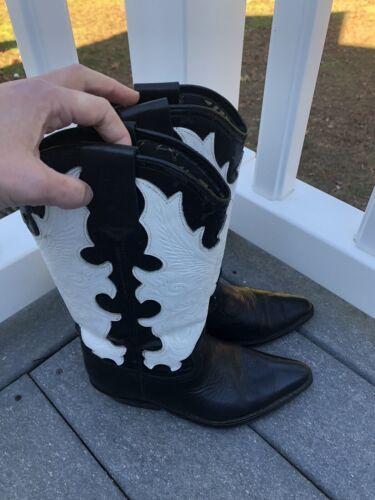 Nevada Blue Black+white Cowboy Boots Size 6.5 Wom… - image 1