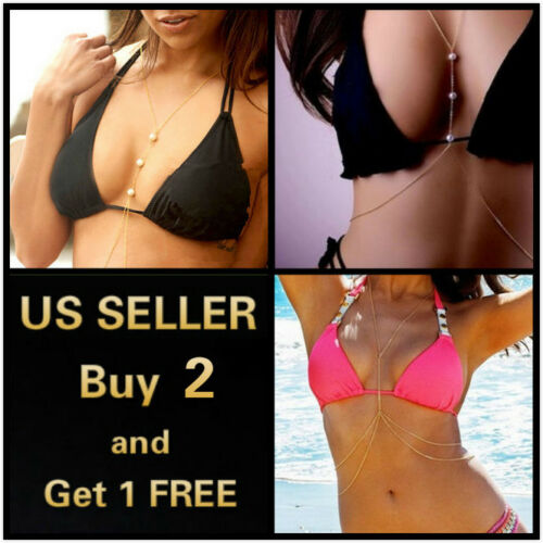 Stunning SILVER Body Chain Belly Necklace Waist Bikini Beach Necklace A001 UK