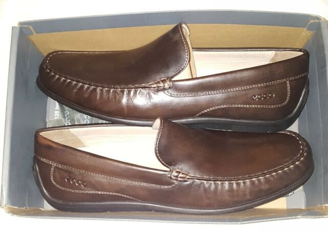 f369d53ef5881 ECCO Classic MOC Mens Size 14 Brown MOC Leather Loafers Shoes 1379