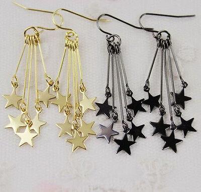 1.7 '' Long Tassel Simple Vogue Stars Girls Dangle Earrings 3 Color