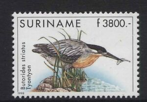 Soigneux Oiseaux-surinam 1998 Heron 3800g Neuf Sans Charnière Sg.1770 (ref.17)-afficher Le Titre D'origine