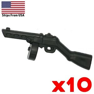 LEGO-Guns-PPSh-41-SMG-Lot-of-10-Soviet-Rifle-WWII-Army-Military-Weapon-Pack