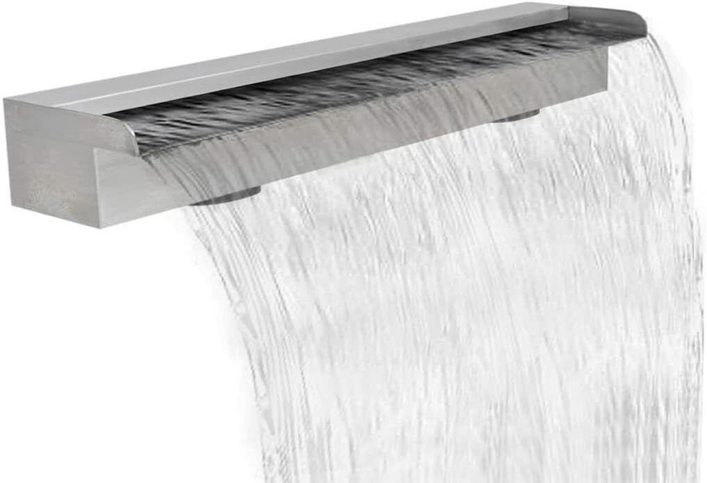 VidaXL Waterfall Pool Fountain Stainless Steel 90cm A-Grade RRP