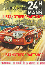 Le Mans 1961 Motor Racing Large A3 Size Poster Advert Sign Leaflet