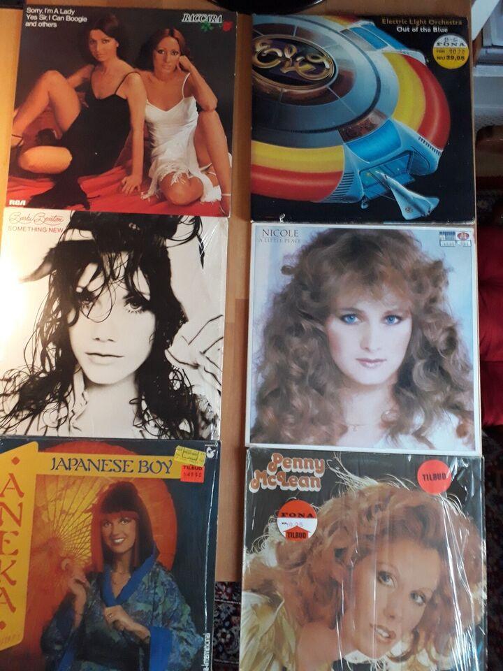 LP, Blandet dansk og udenlandsk pop og underholdning.
