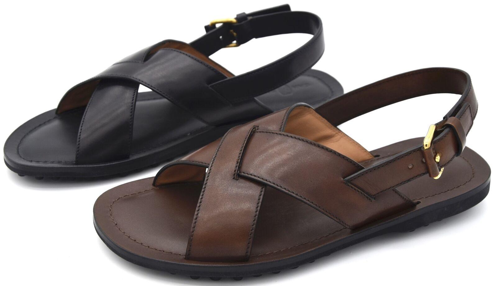 Car shoe mens shoe flat sandals mule casual free time leather kux724