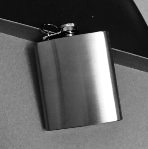 Portable Biker Alcohol Flagon Stainless Steel Hip Flask Wine Bottle With Chain