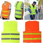 Visibility Waistcoats Safety Vest Security Reflective Stripes Jacket Cloth NEW