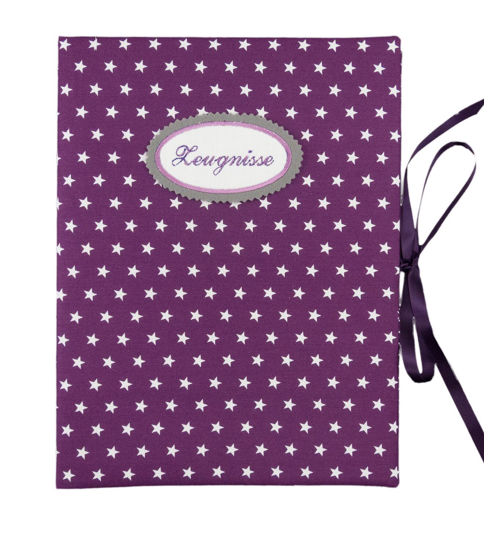Zeugnismappe DIN A4 Sterne lila weiß - innen 30 Sichthüllen | Moderater Preis  | Kaufen Sie online  | Qualität und Quantität garantiert