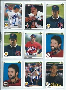 Details About 1990 Upper Deck Baseball Cards Autographed You Pick To Fill Sets Signed