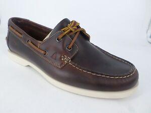 Clarks-homme-NAUTIC-BAY-Chaussures-en-Cuir-Marron-UK-8-EU-42-G-Fit-LN084-DD-04