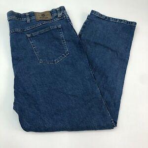 Wrangler-Denim-Jeans-Mens-46X30-Blue-Straight-Leg-Cotton-Stretch-Medium-Washed