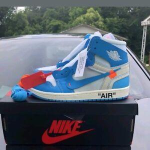 Air Jordan 1 Retro High OG X Off White UNC Mens New Basketball Size ... 068aa6c7c