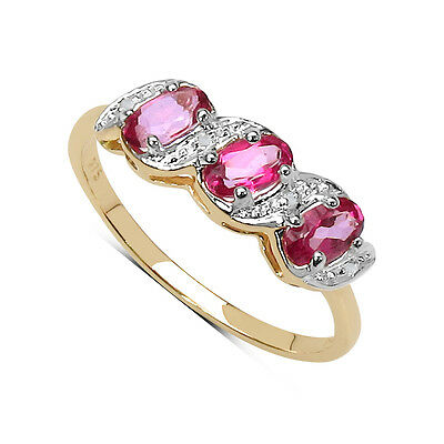 9CT GOLD 0.77ct GENUINE TANZANITE /& DIAMOND ETERNITY ENGAGEMENT RING SIZE K to W